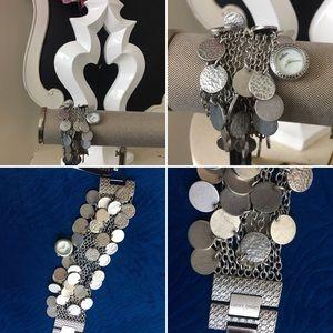 🌺 Lucky Brand Beautiful Wide Charm Bracelet Watch